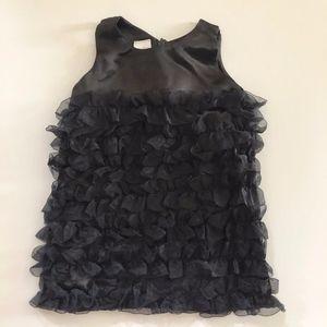 Girls Ruffle Butts Black Ruffled Dress 6-12 M